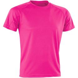 textil Hombre Camisetas manga corta Spiro SR287 Rosa Flo