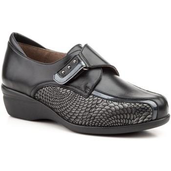 Zapatos Mujer Mocasín Gavi's Shoes Para Ella Zapatos confort de piel by Gavis Noir