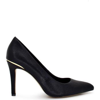 Zapatos Mujer Zapatos de tacón Exé Shoes ZAPATO TACON BLACK SNAKE CON DETALLE DORADO BONITA-600