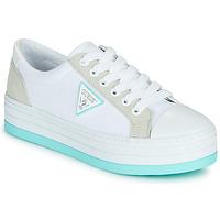 Zapatos Mujer Zapatillas bajas Guess BRODEY Blanco / Azul