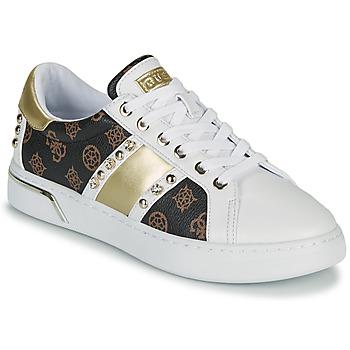 Zapatos Mujer Zapatillas bajas Guess RICENA Blanco / Marrón
