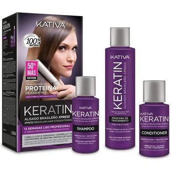 Belleza Mujer Acondicionador Kativa Keratin Alisado Brasileño Express Lote 3 Pz 3 u