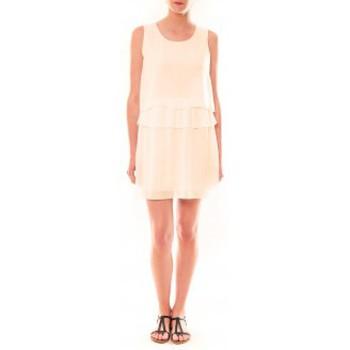 textil Mujer Vestidos cortos La Vitrine De La Mode Robe TROIS By La Vitrine Beige Beige