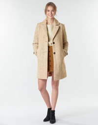 textil Mujer Abrigos Only ONLPENNY Camel / Blanco