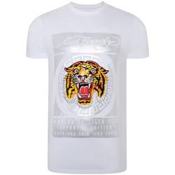 textil Tops y Camisetas Ed Hardy Tile-roar t-shirt Blanco