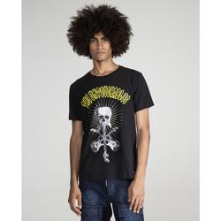 textil Hombre Camisetas manga corta The Untouchables SKULL GUITAR Negro