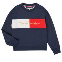 textil Niña Sudaderas Tommy Hilfiger KG0KG05497-C87-J Marino