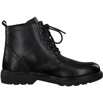 Zapatos Mujer Botas de caña baja Marco Tozzi Botines Tacones Bajos Napa Neg Black