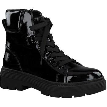 Zapatos Mujer Botas de caña baja Marco Tozzi Botines Tacones bajos Black Pa Black