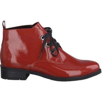 Zapatos Mujer Botines Marco Tozzi Botines Tacones bajos Rojo Pat Red
