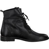 Zapatos Mujer Botas de caña baja Marco Tozzi Botines Tacones bajos Negro An Black