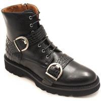 Zapatos Mujer Botines Calce 491-PI Negro