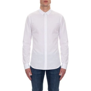 textil Hombre Camisas manga larga EAX CAMISA Blanco