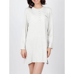 textil Mujer Pijama Admas Camisón No te olvides de sonreír  gris Gris Claro