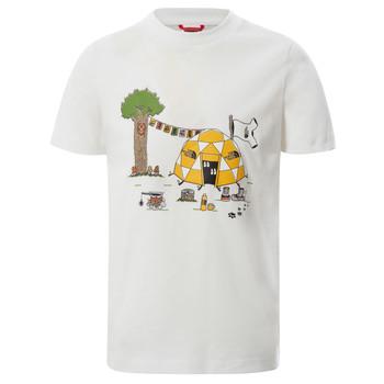 textil Niño Camisetas manga corta The North Face GRAPHIC TEE Blanco