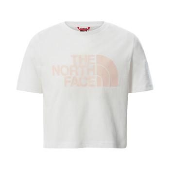 textil Niña Camisetas manga corta The North Face EASY CROPPED TEE Blanco