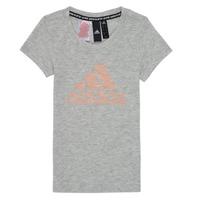 textil Niña Camisetas manga corta adidas Performance JG A MHE TEE Blanco