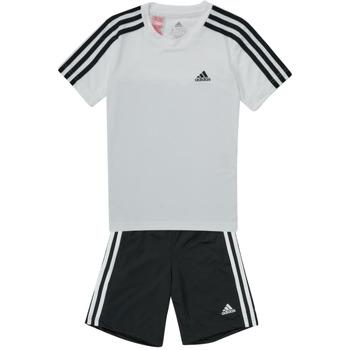 textil Niño Conjuntos chándal adidas Performance B 3S T SET Blanco / Negro
