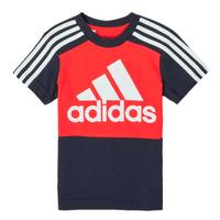 textil Niño Camisetas manga corta adidas Performance B CB T Rojo / Marino