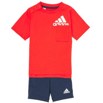 textil Niño Conjunto adidas Performance BOS SUM  SET Rojo / Negro