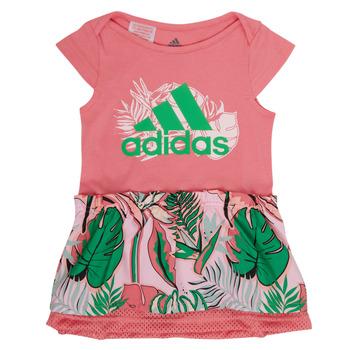 textil Niña Vestidos cortos adidas Performance FLOWER DRESS Rosa