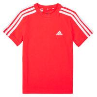textil Niño Camisetas manga corta adidas Performance B 3S T Rojo