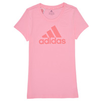 textil Niña Camisetas manga corta adidas Performance G BL T Rosa