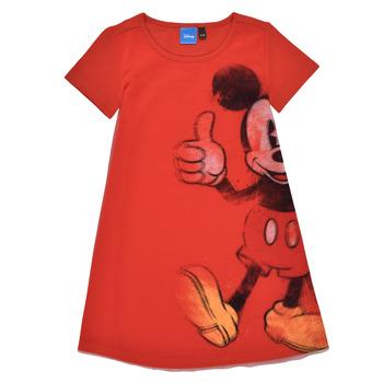 textil Niña Vestidos cortos Desigual 21SGVK41-3036 Rojo