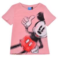 textil Niña Camisetas manga corta Desigual 21SGTK43-3013 Rosa