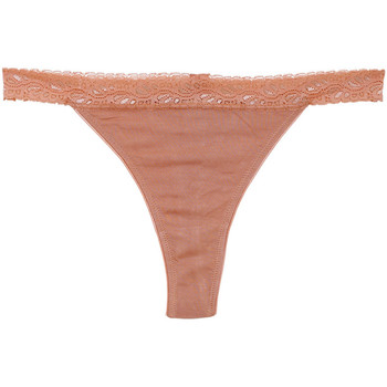 Ropa interior Mujer Strings Underprotection BB1003 BEA STRING 3 PACK TAN Beige