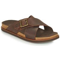 Zapatos Hombre Zuecos (Mules) Timberland AMALFI VIBES CROSS SLIDE Marrón