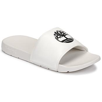 Zapatos Zuecos (Mules) Timberland PLAYA SANDS SPORTS SLIDE Blanco