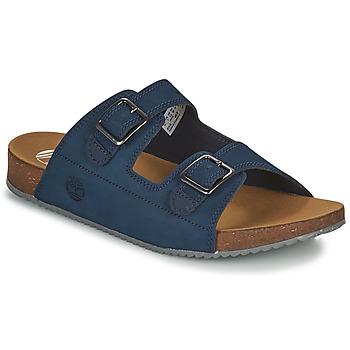 Zapatos Niños Zuecos (Mules) Timberland CASTLE ISLAND SLIDE Azul