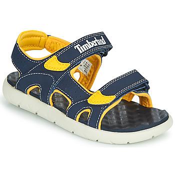 Zapatos Niños Sandalias Timberland PERKINS ROW 2-STRAP Azul / Amarillo