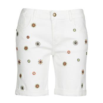 textil Mujer Shorts / Bermudas Desigual GRECIA Blanco