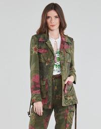 textil Mujer Chaquetas / Americana Desigual CAMOASIS Kaki