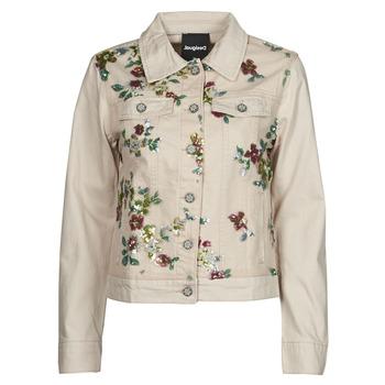 textil Mujer Chaquetas denim Desigual BRILLIGRIN Rosa