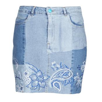 textil Mujer Faldas Desigual BE BLUE Azul