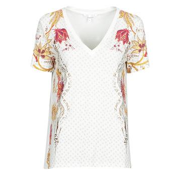 textil Mujer Camisetas manga corta Desigual PRAGA Blanco
