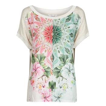 textil Mujer Camisetas manga corta Desigual COPENHAGUE Blanco