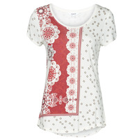 textil Mujer Camisetas manga corta Desigual ESTAMBUL Blanco