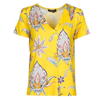 textil Mujer Camisetas manga corta Desigual LEMARK Amarillo