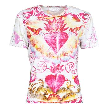 textil Mujer Camisetas manga corta Desigual TATTOO Multicolor
