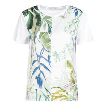 textil Mujer Camisetas manga corta Desigual BUDAPEST Blanco