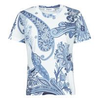 textil Mujer Camisetas manga corta Desigual POPASLEY Azul