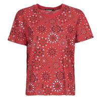 textil Mujer Camisetas manga corta Desigual LYON Rojo