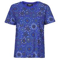 textil Mujer Camisetas manga corta Desigual LYON Marino