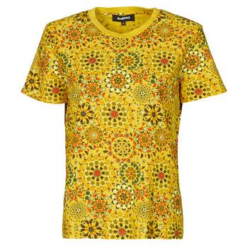 textil Mujer Camisetas manga corta Desigual LYON Amarillo