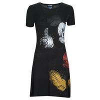 textil Mujer Vestidos cortos Desigual MICKEY Negro