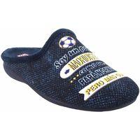 Zapatos Hombre Pantuflas Gema Garcia Ir por casa caballero  7105-39 azul Azul